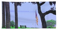 A Patriotic Scenic View From Fairhope Alabama Bath Towel