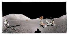 Apollo 17 Taurus-littrow Valley The Moon Hand Towel