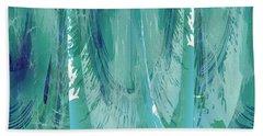Aqua Abstract Flow Bath Towel