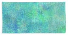 Aqua Batik Print Coordinate Hand Towel