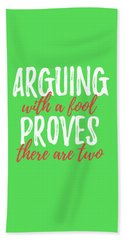 Arguing Hand Towel