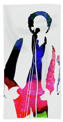 Art Garfunkel Watercolor Hand Towel
