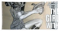 arteMECHANIX 1906 The GIRL WITH The SHINY RAYGUN GRUNGE Hand Towel