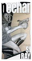 arteMECHANIX 1906 The GIRL WITH The SHINY RAYGUN GRUNGE Hand Towel
