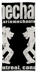 arteMECHANIX OFFICIAL LOGO  GRUNGE Bath Towel