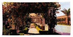 Artistic Courtyard Getty Villa  Bath Towel