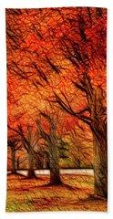 Artistic Four Fall Trees Bath Towel