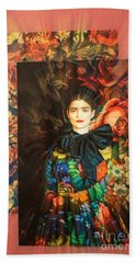 Artistic Frida Kahlo Stream  Hand Towel