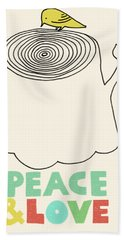 Peace And Love Bath Towel