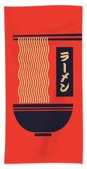 Ramen Japanese Food Noodle Bowl Chopsticks - Red Hand Towel