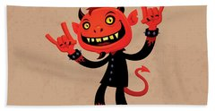 Heavy Metal Devil Hand Towel