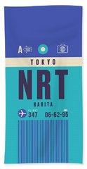 Retro Airline Luggage Tag - Nrt Tokyo Narita Hand Towel