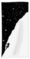 Night Climbing Hand Towel