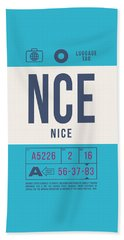 Retro Airline Luggage Tag 2.0 - Nce Nice Cote D'azur Airport France Hand Towel