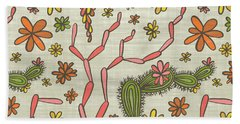 Flowering Cacti Elements Hand Towel