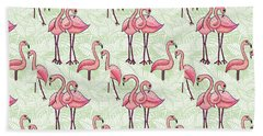 Flamingo Pattern Hand Towel