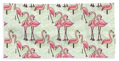 Flamingo Pattern Bath Towel