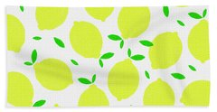 Sunny Lemon Pattern Hand Towel
