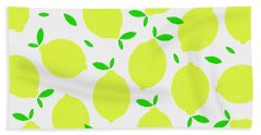 Sunny Lemon Pattern Bath Towel