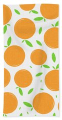 Sunny Citrus Pattern Bath Towel