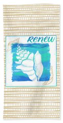 Renew Seashell Coastal Art Bath Towel