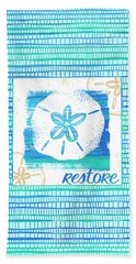Restore Sand Dollar Coastal Art Bath Towel