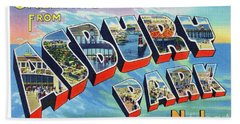 Asbury Park Greetings Bath Towel