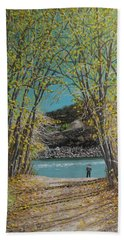 Aspen Trees And Fisherman Hand Towel
