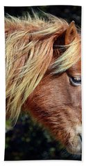 Bath Towel featuring the photograph Assateague Pony Sarah's Sweet Tea Profile by Bill Swartwout Fine Art Photography