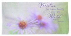 Asters For Mother's Day Bath Towel