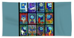 Astrology Cat Zodiacs Hand Towel