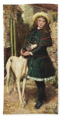 At The Garden Gate, 1887 Hand Towel