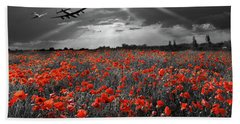 Bath Towel featuring the photograph At The Going Down Of The Sun Selective Red Version by Gary Eason