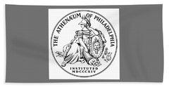 Athenaeum Of Philadelphia Logo Hand Towel