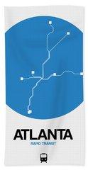 Atlanta Blue Subway Map Bath Towel