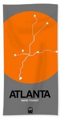 Atlanta Orange Subway Map Bath Towel