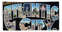 Atlantic City Greetings #2 Hand Towel
