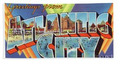 Atlantic City Greetings #4 Hand Towel
