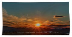 Attean Pond Sunset Hand Towel