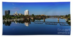 Augusta Ga Savannah River Panorama Bath Towel
