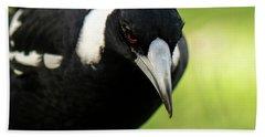 Australian Magpie Outdoors Hand Towel