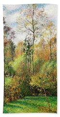 Automne, Peupliers, Eragny - Digital Remastered Edition Bath Towel