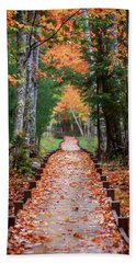Autumn At Jesup Path Hand Towel