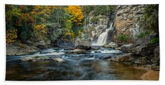 Autumn At Linville Falls - Linville Gorge Blue Ridge Parkway Bath Towel