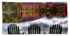 Bath Towel featuring the photograph Autumn At The Lake by David Patterson