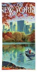 Autumn Central Park Hand Towel