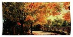 Autumn Country Walk Hand Towel