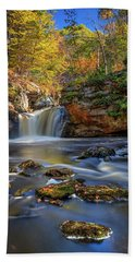 Autumn Day At Doane's Falls Hand Towel