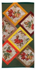Autumn Fruit And Leaves Bath Towel