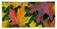 Autumn Leaves Hand Towel